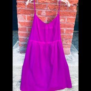 Madewell fuchsia slip dress